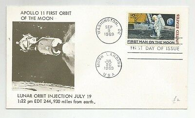 Usa Fdc 1St Man On The Moon 1969