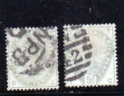 GB.Stamps. QV. 4d and 5d used. SG192 & 193. High Cat. Value
