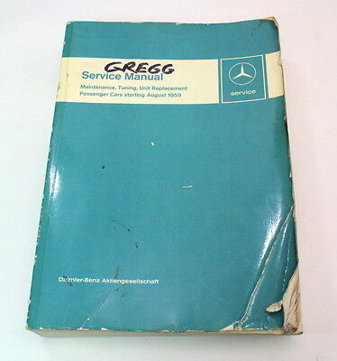 Mercedes Factory Service Manual Passenger Cars Starting August 1959