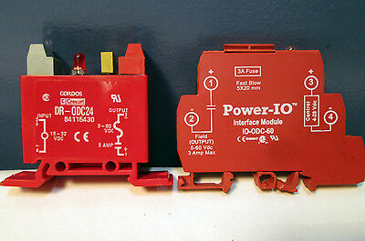 2Used Tested Solid State Relay In/out 3Amp Fused Optically Isolated Din Rail 24V