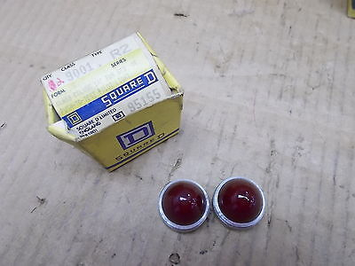 Square D Red Glass Colour Cap for STD. or Push to Test Pilot Light Class 9001