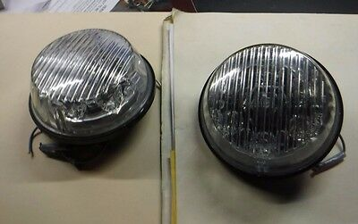 HARLEY DAVIDSON POLICE PURSUIT PASSING Blue LED 200 Series TIR6 clear Lens pair