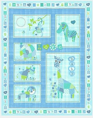 Patchwork Pals Quilt Panel * New * Blue * In Stock * Free Post *