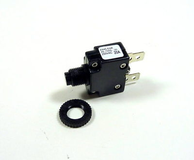 20A Miniature Push Button Circuit Breaker AC With Reset Button 20 Amp