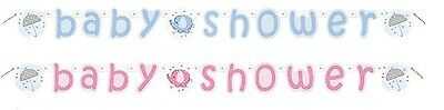 Baby Shower Christening Party Banner Boy Girl Unisex Decorations Banners
