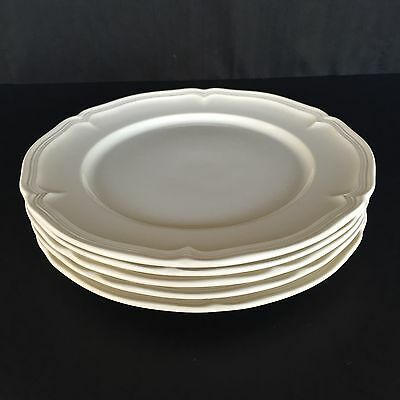 Villeroy & Boch Manoir 5 Piece Salad Plates Vitro-Porcelain China Ivory Dishes