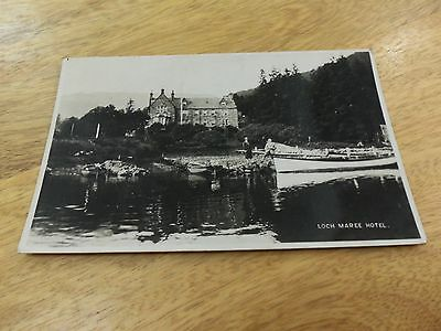 old 1931 postcard loch Maree hotel, Scotland. 1/2d stamps posted Edward 7th