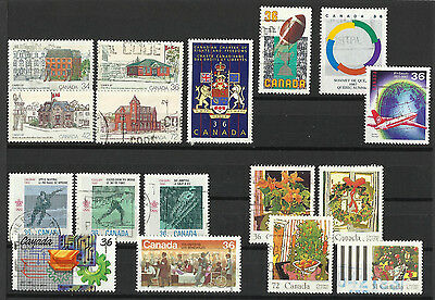 Canada - Sets - Value lot from 1987 - used