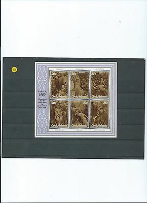 Attractive miniature sheet from Cook Islands. 1980. SG MS 283