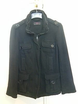 Women's New Look Black Coat Size 12