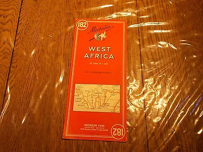 Vintage Michelin Map 182 West Africa List Of Available Resources