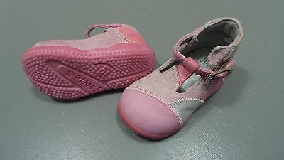 Bottines / chaussures roses LITTLE MARY taille 18 en TBE