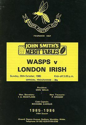 Wasps V London Irish 20/10/85