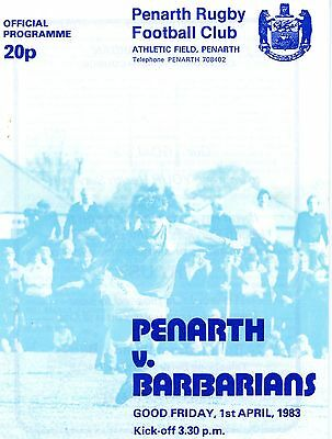 Penarth v Barbarians 1/4/83