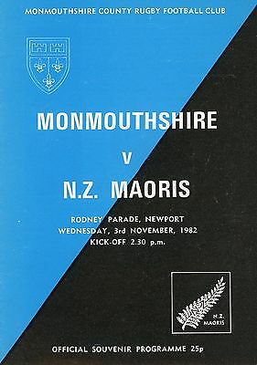 Monmouthshire v New Zealand Maoris 3/11/82