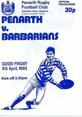 Penarth v Barbarians 5/4/85