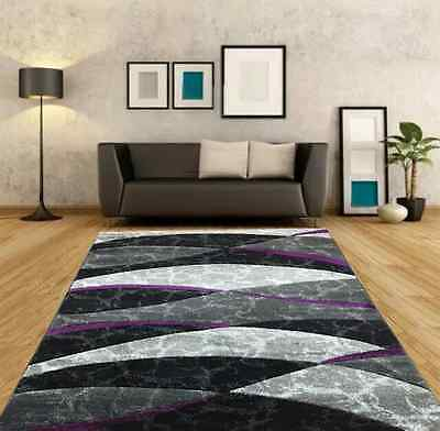 Thick Quality Modern Carved Large Purple Silver Rug Small Cheap Living Room Rugs