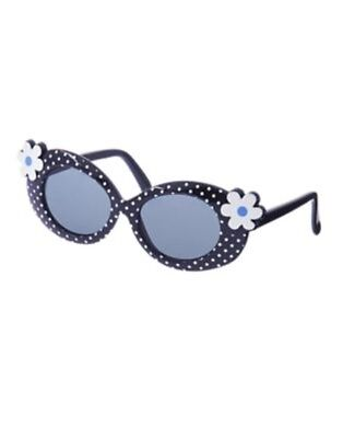 GYMBOREE SPRING PREP NAVY w/ DOTS N FLOWERS SUNGLASSES 4 5 6 7 8 NWT
