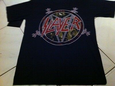 SLAYER 1987 TOUR SHIRT AUTHENTIC ORIGINAL VTG venom sodom sepultura kreator dio