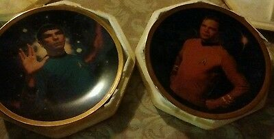 Dr SPOCK PLATE N CAPT KIRK PLATE HAMILTON COLLECTION