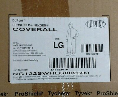 Disposable Coverall DuPont Tyvek Proshield  NexGen Hood, Boots,  LG, Case of 25