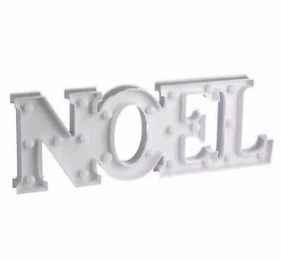 $5 SALE NEW Jolly & Joy Large NOEL Christmas Lights Sign - Battery Operated