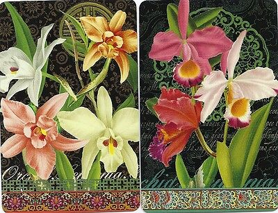Swap Playing Cards    Vintage  Pair  Of  Cards   #  Flowers, Fruit Etc  -  019
