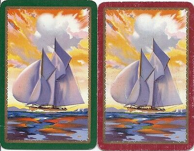 Swap Playing Cards    Vintage  Pair  Of  Cards    #    Ships  - 02