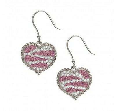 Montana Silversmiths Candied Hearts with Pink Zebra Stripes Earrings ER2230