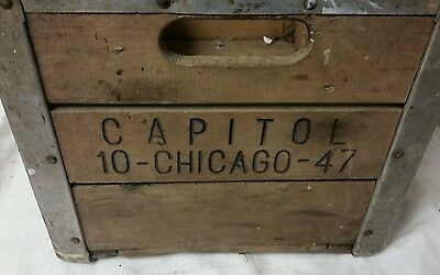 Vintage Wooden Milk Crate - Capitol 10-Chicago-43