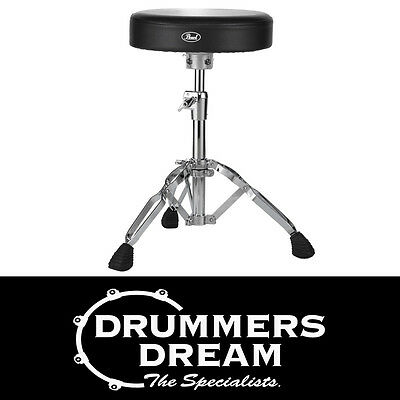 """Pearl D-930 Drum Throne Stool Double Brace Height Adjustable Brand NEW 12"""" Round"""