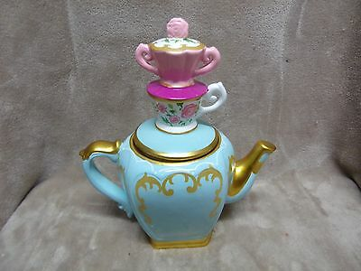"""Disney Alice Through The Looking Glass Teapot w/ Top 11"""" Tall"""