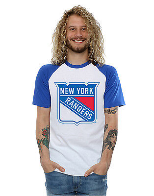 Majestic Men's NHL New York Rangers Logo Baseball T-Shirt