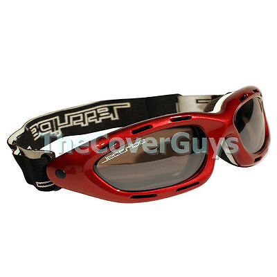 Jettribe Red Frame Smoke Lens Riding Jetski Goggles - A Must for every PWC rider