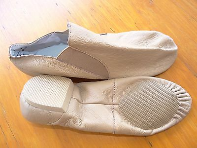 Adult size Jazz Shoes - Tan - Split Sole - Pull on - Brand New