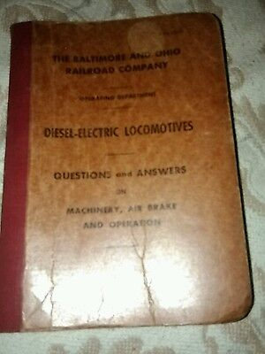 Baltimore and Ohio RAILROAD company.. Operating Dept.. question n answer Diesel