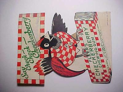 Rare 1930's Fleer's Checkerberry Chewing Gum Die-cut Sign, NICE! L@@K!