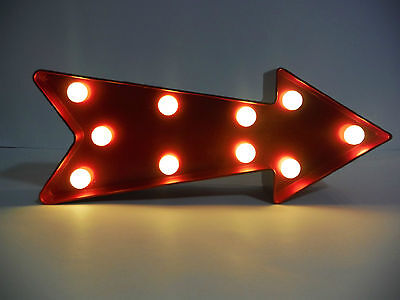 Valentines Day Cupid's Arrow Light Up Sign Decoration.light Up Cupid's Arrow