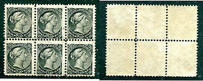 Used Canada 1/2 Cent Queen Victoria Small Queen Block of 6 #34 (Lot #12527)