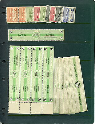 Hoard of MNH USA State Revenue Stamps (Lot #B403)