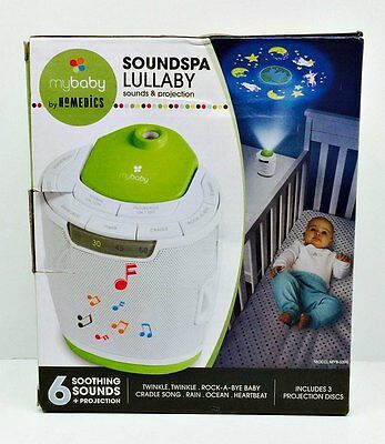 mybaby Soundspa Lullaby by Homedics #MYB-S300A 6 Different Soothing Sounds