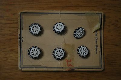 Vintage Styled Dress Buttons - Sailor Wheels - (6 wheels total) - NICE!!