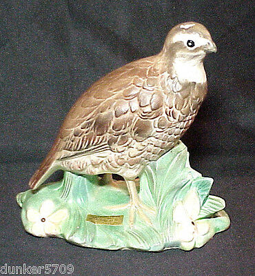 7 Inch High Ceramic Quail Handcrafted By John Hart