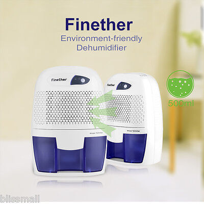500ml Mini Air Dehumidifier Safe Dryer Quite Bathroom Damp Moisture Absorber AU