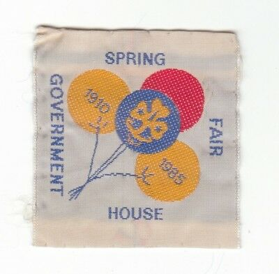 Vintage Girl Guides Spring Fair Government House Camp Blanket Badge Patch 1985