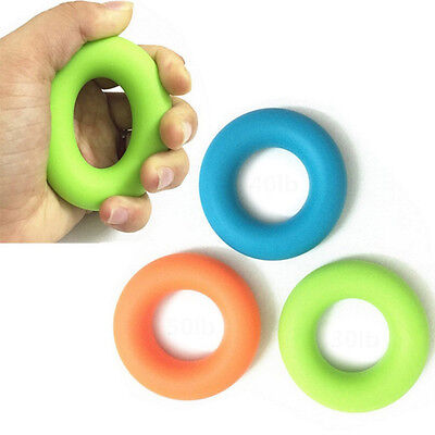Strength Power Rubber Exerciser Silicone Gripper Gripping Hand Grip Ring Gym