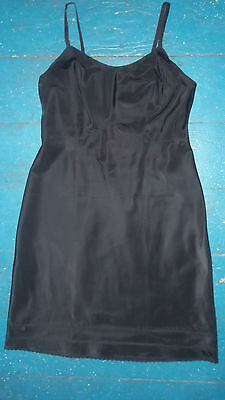 vintage THE SNIP IT SLIP black 50% nylon 50% dacron full slip size 38