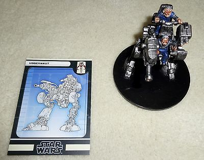 Star Wars Miniatures The Force Unleashed UGGERNAUT 58/60 Huge Rare w/ Card MINT