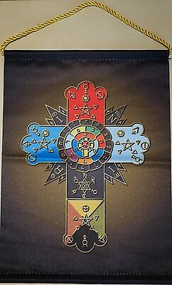 Rosicrucian Kreuz Wimpel (Rose Cross) Color Edition GER