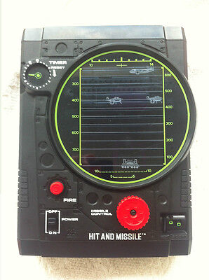 Vintage Electronic Handheld Game Tomy Hit and Missile 1979 Japan Rare